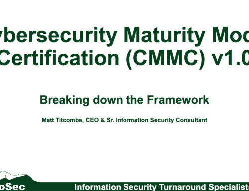 CMMC: Breaking down the Framework