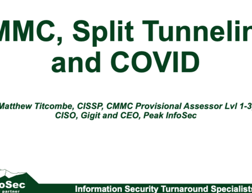 CMMC, Split Tunneling, and COVID